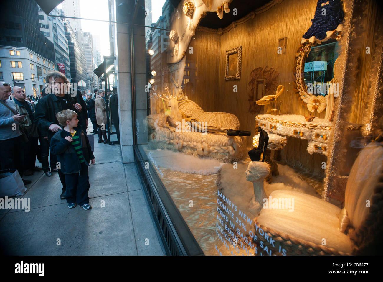 The Barney\'s Christmas window display, Gaga\'s Workshop featuring ...