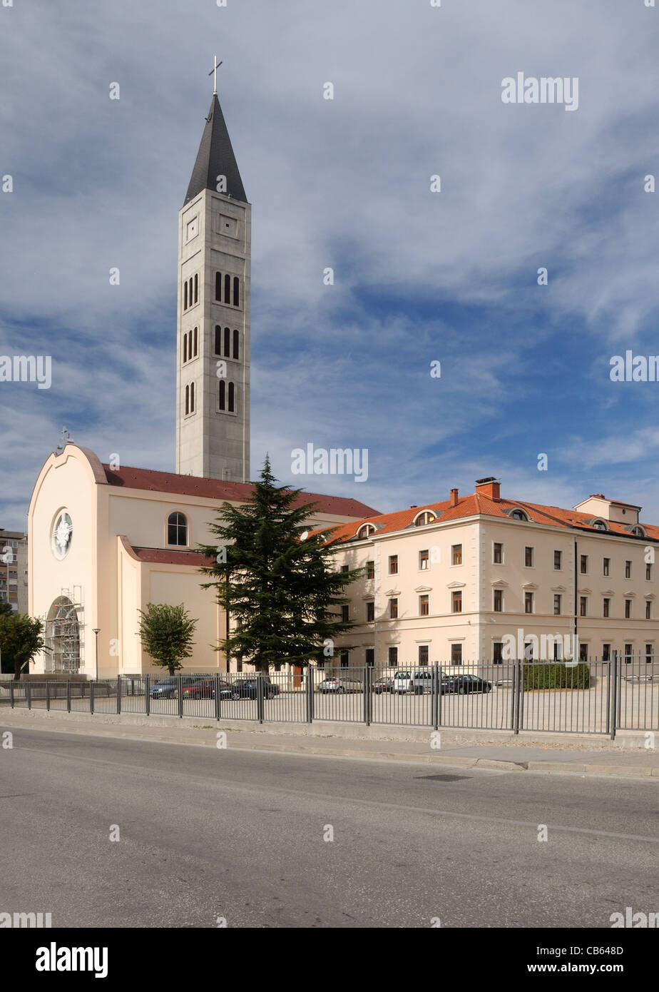 The Church of St. Peter & St. Paul, and the Franciscan friary, in Mostar, Herzegovina-Neretva, Bosnia & - Stock Image