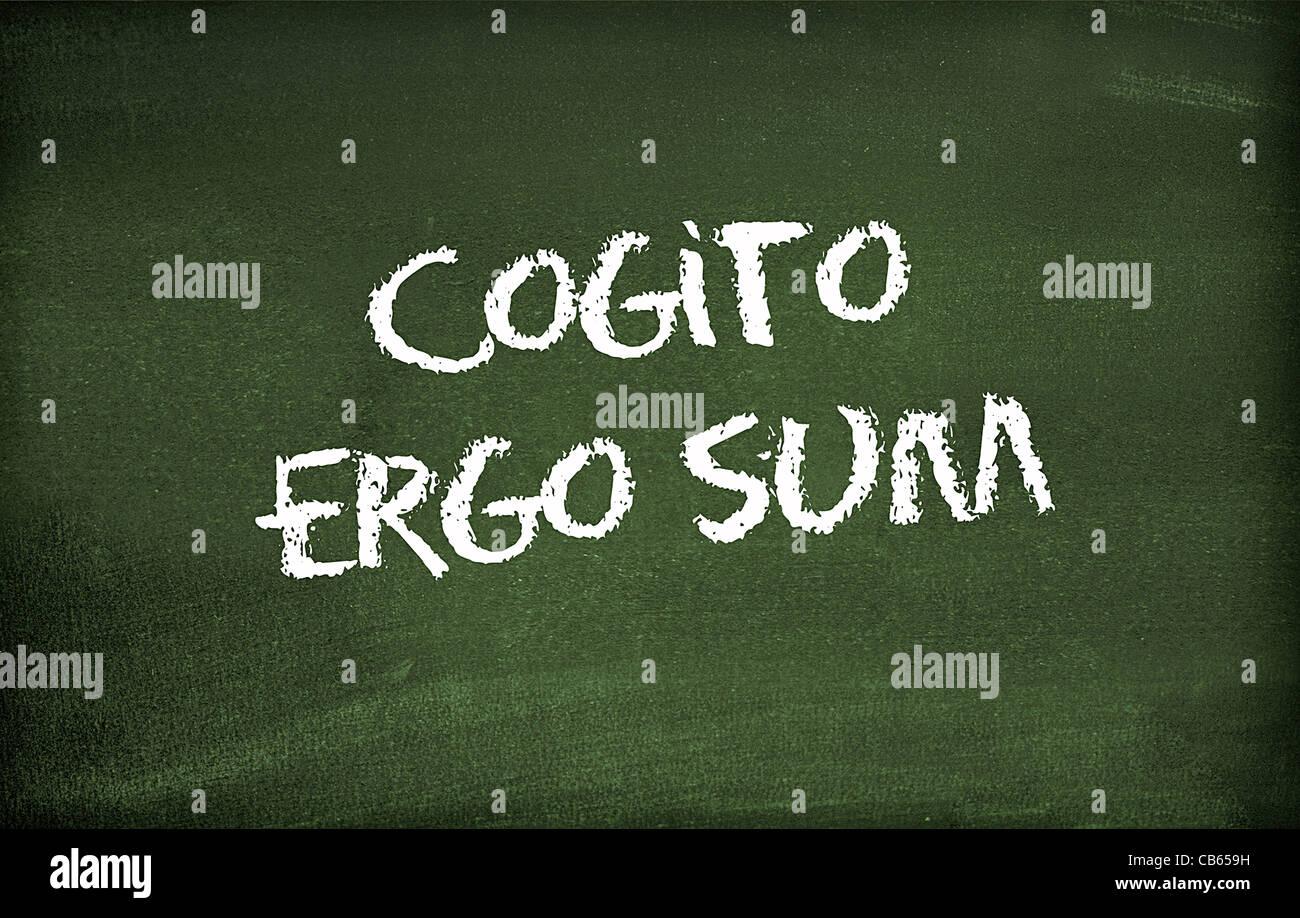 Cogito ergo sum - Stock Image