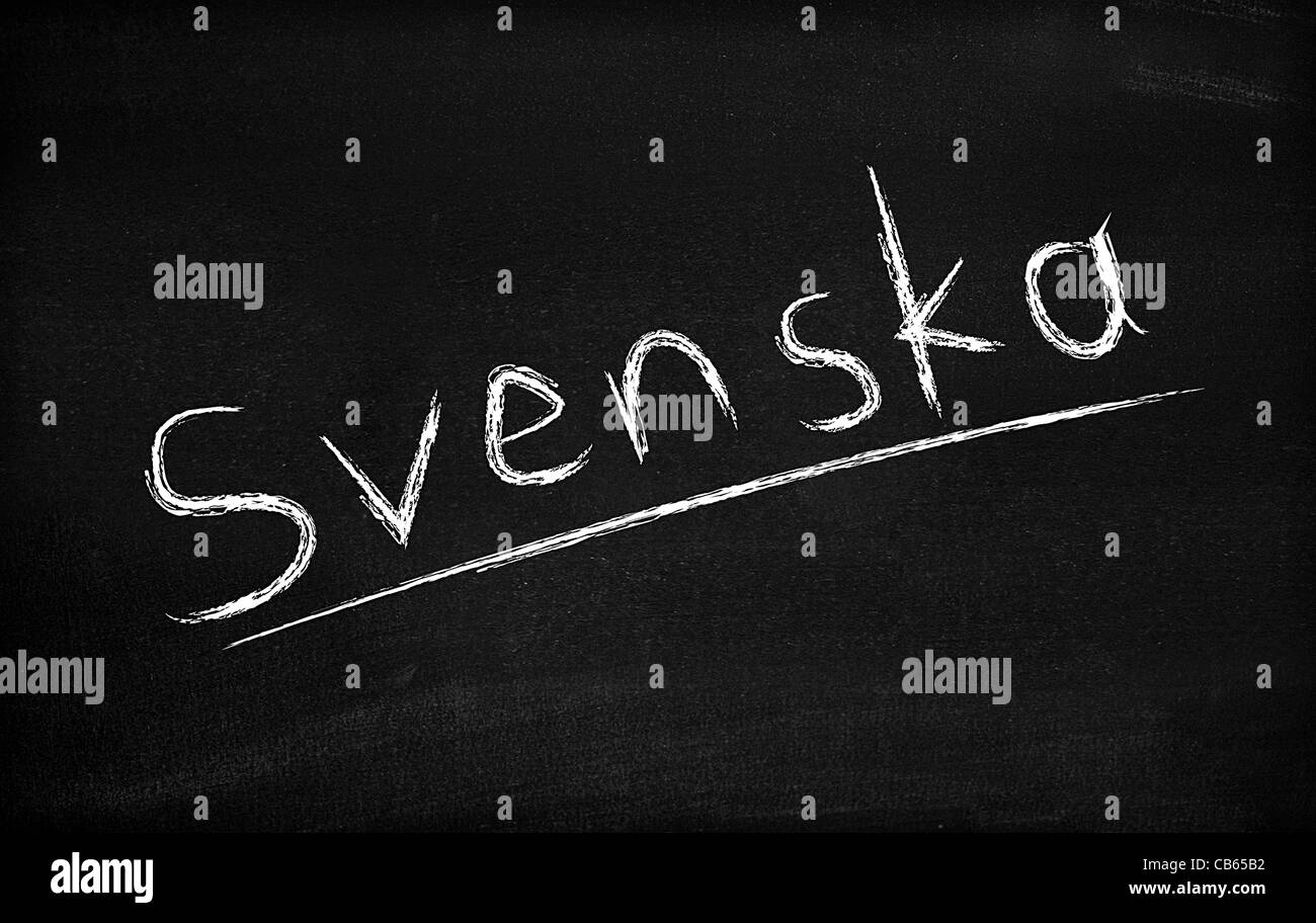 Means Swedish - Stock Image