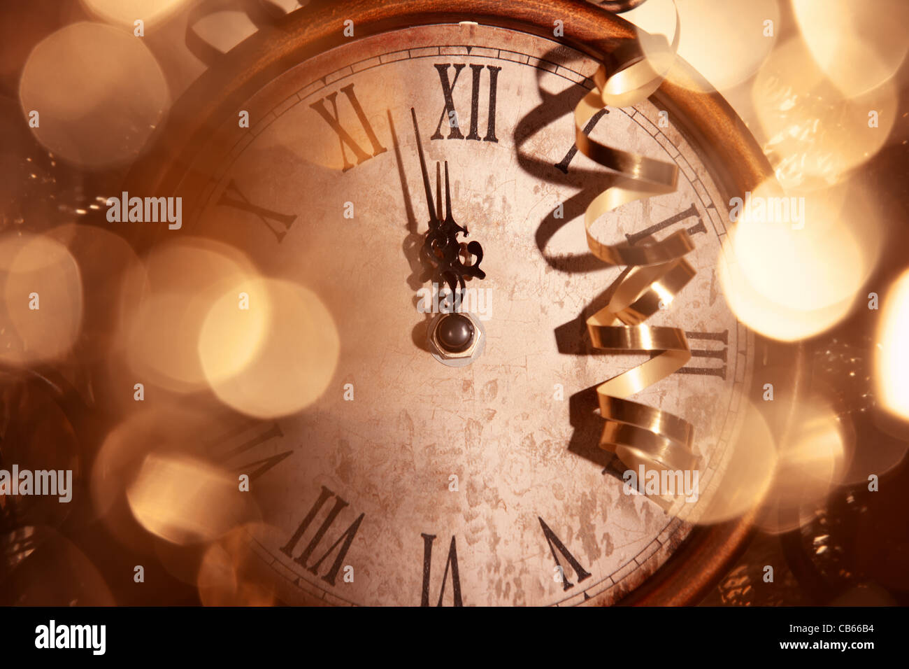 Nearly Twelve O'clock Midnight,New Year Concept. - Stock Image