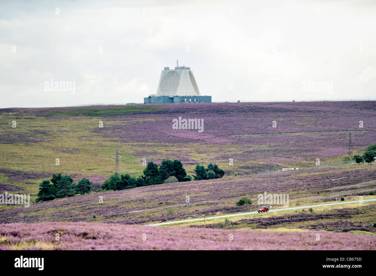 Ministry of Defence radar early warning facility at Fylingdales, North York Moors, UK. Replaced earlier golf ball - Stock Image
