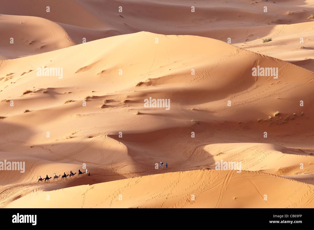 Desert Landscape,Erg Chebbi near Merzouga, - Stock Image