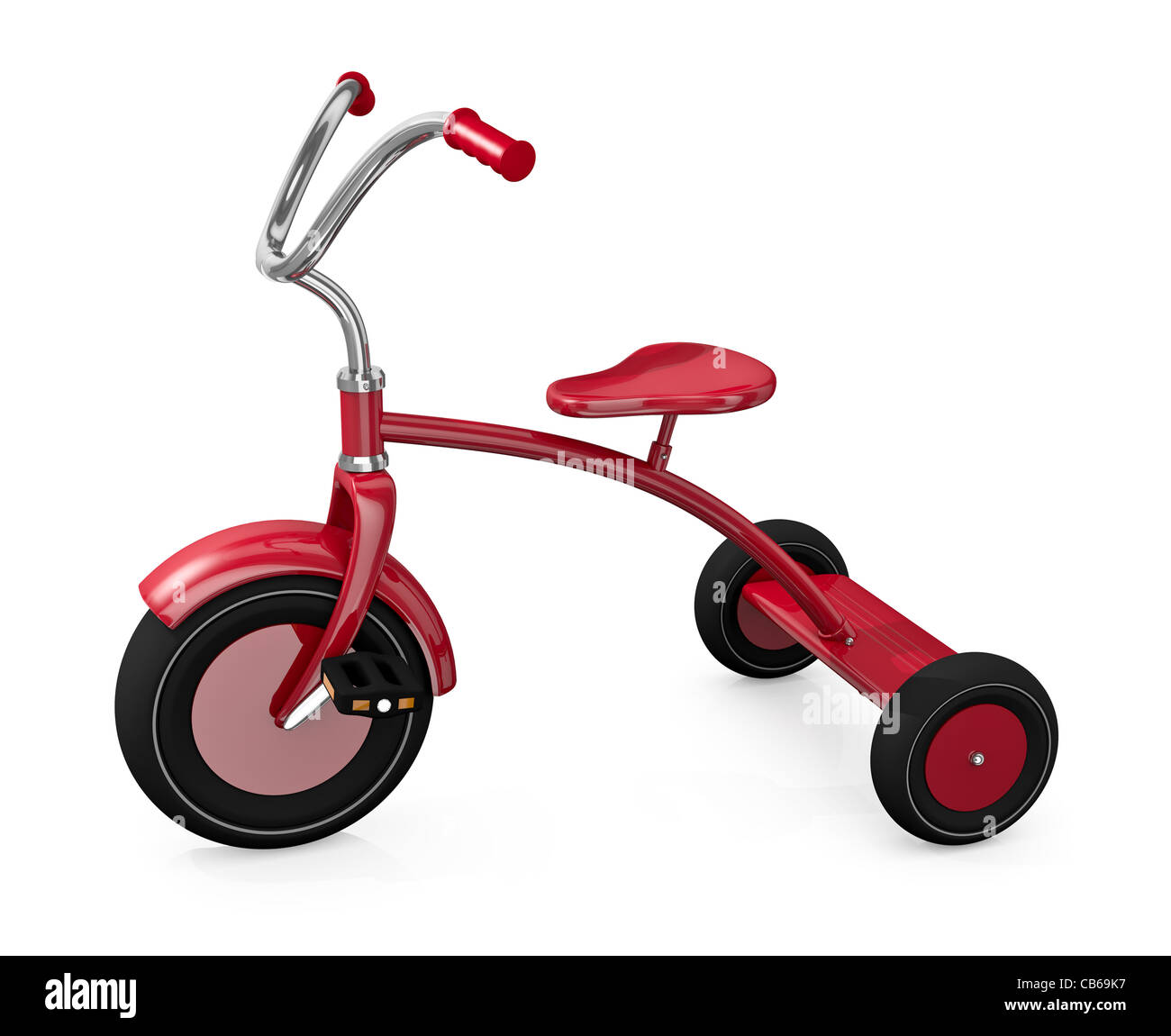 Red tricycle - Stock Image