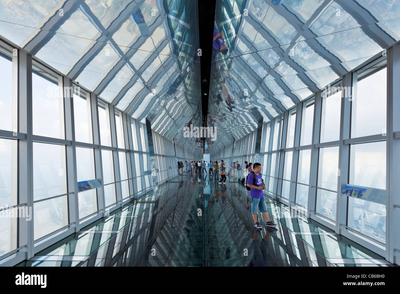 the Skywalk 100, glass corridor observatory in the ...