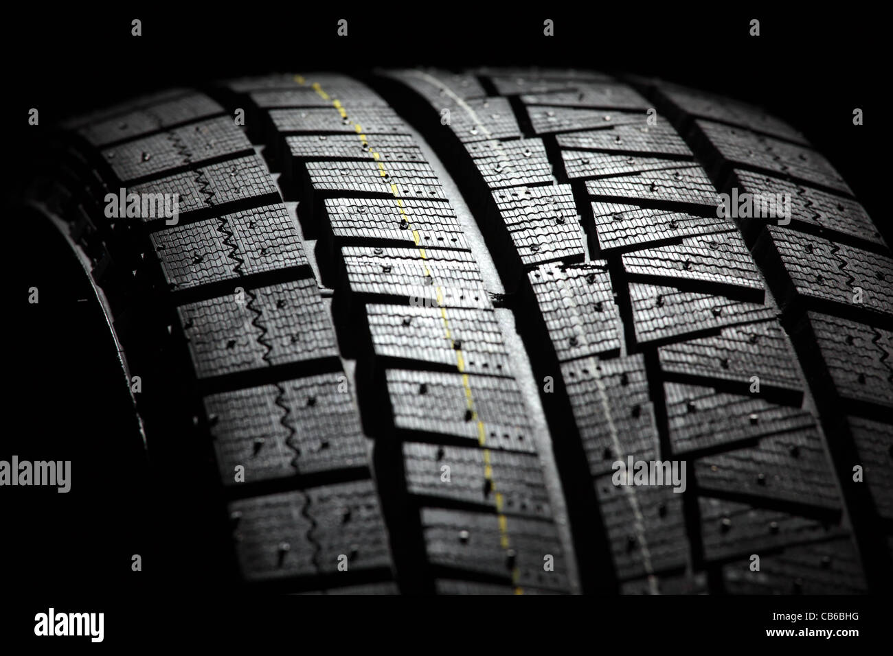 Part of brand new car tyre. - Stock Image