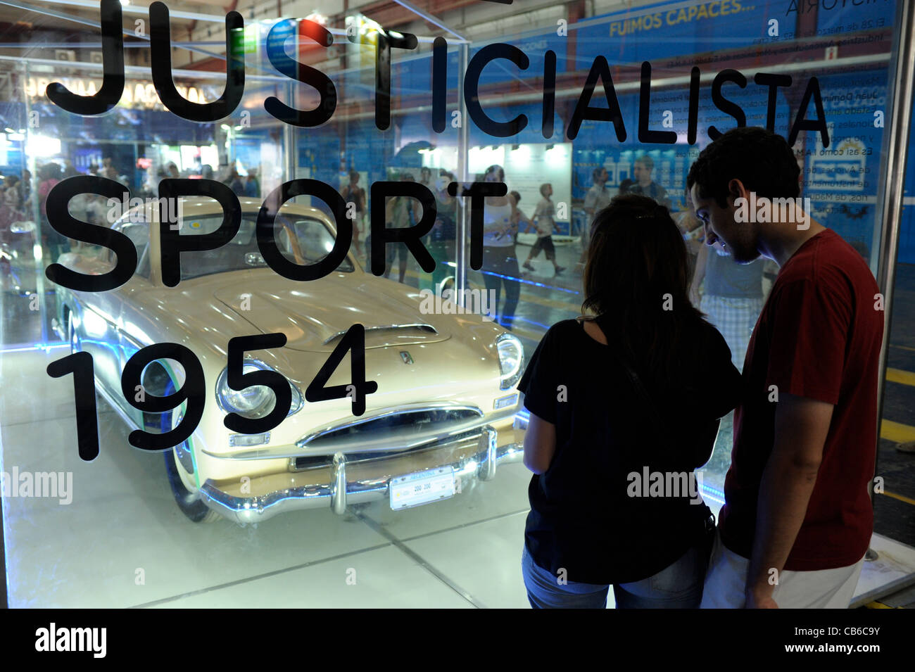 El Justicialista, sports car made in Argentina during the 1950's at closure event at Tecnopolis Science and - Stock Image