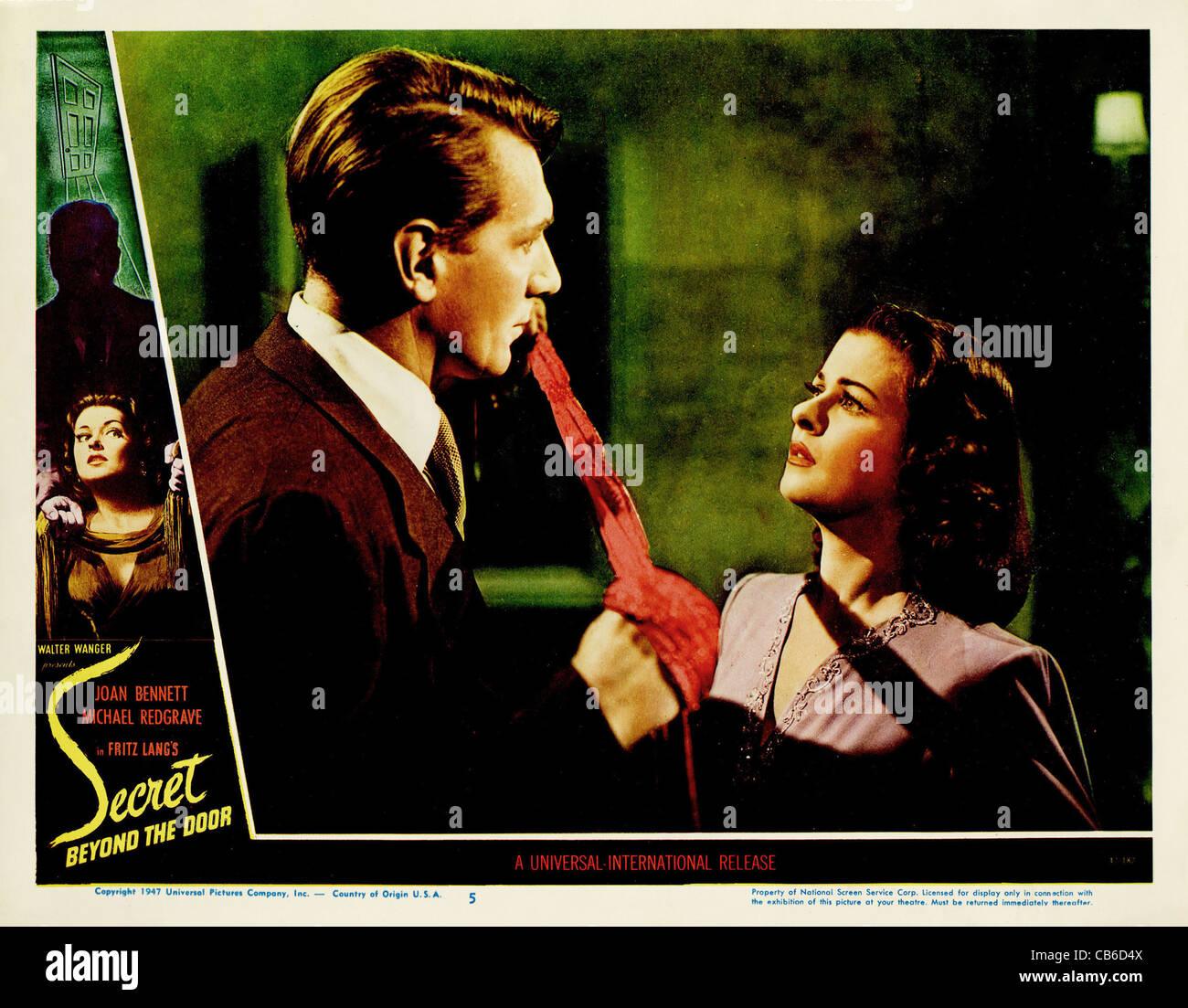 SECRET BEYOND THE DOOR... (1947) FRITZ LANG (DIR) JOAN BENNETT, MICHAEL REDGRAVE 001 MOVIESTORE COLLECTION LTD - Stock Image