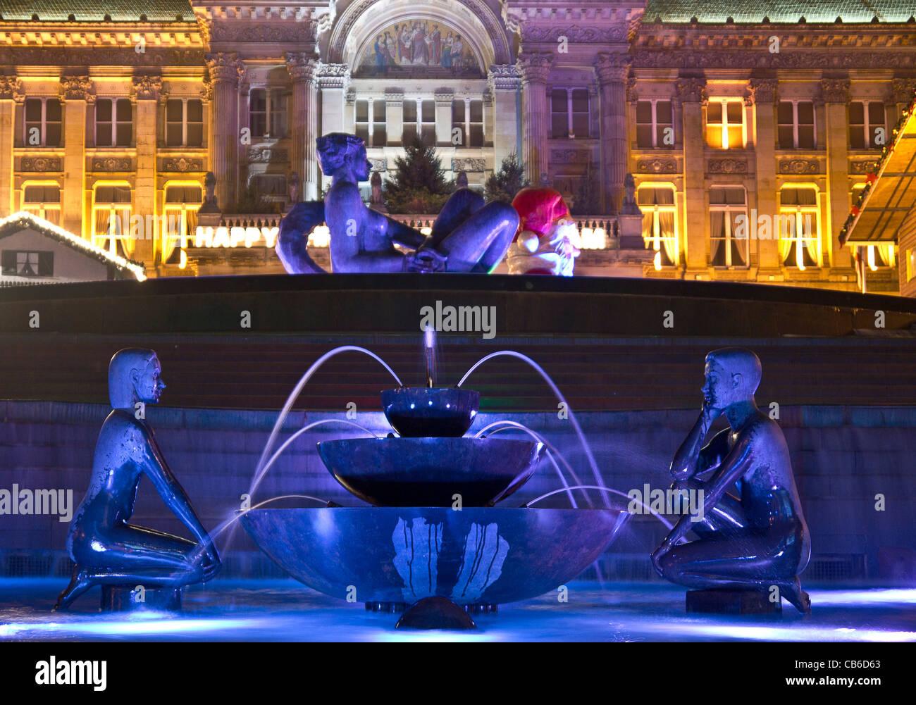 The River, Victoria Square Birmingham at night Stock Photo