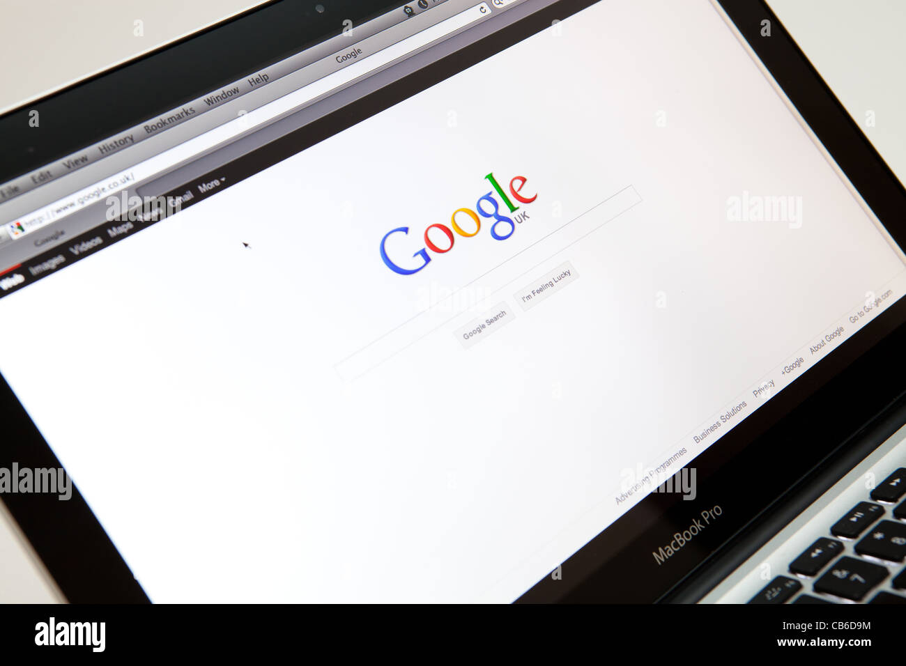 Google Search Engine Website Screen shot of web page - Stock Image