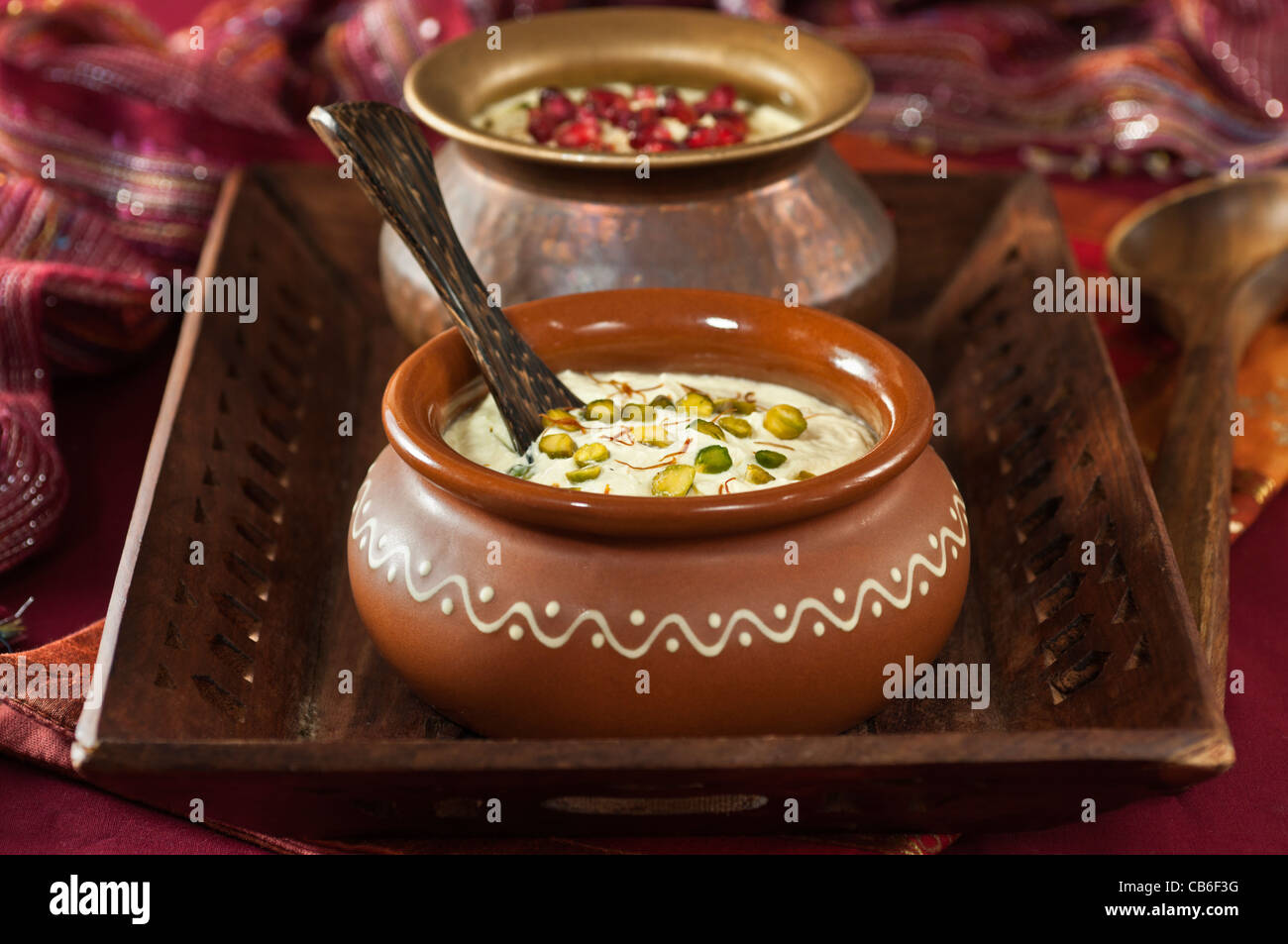 Shrikhand. Indian dessert Stock Photo