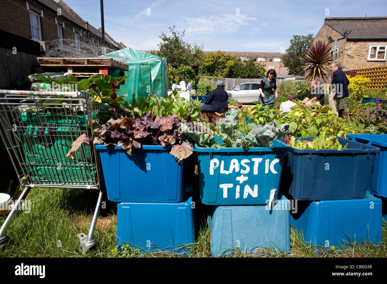 Pembroke Community Garden Urban Communal Garden, South East London, UK. Photo:Jeff Gilbert - Stock Image