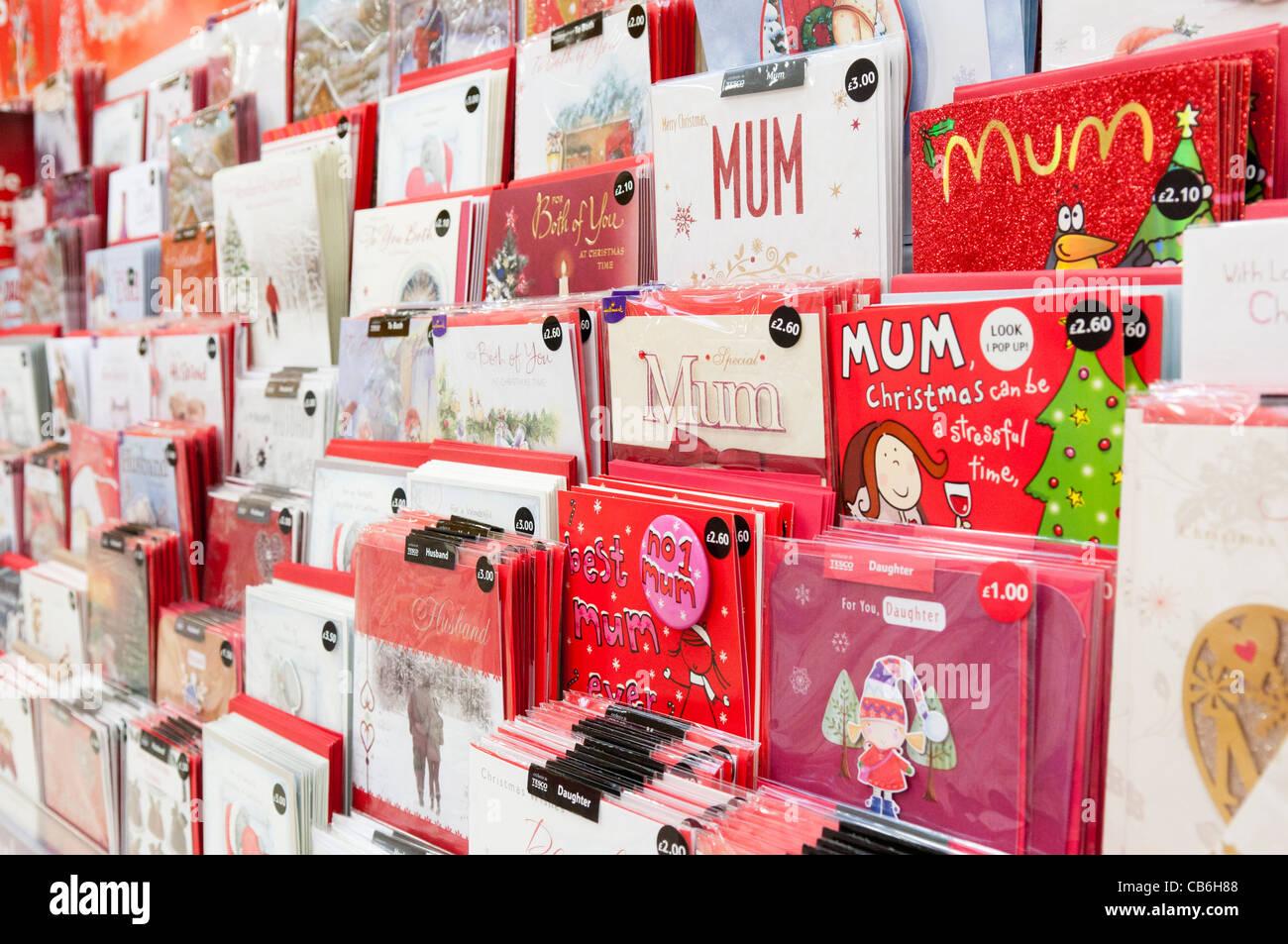 Shelves of birthday cards for family members in a tesco store stock shelves of birthday cards for family members in a tesco store m4hsunfo Images