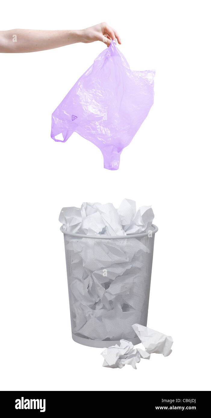 Throwing garbage out - Stock Image