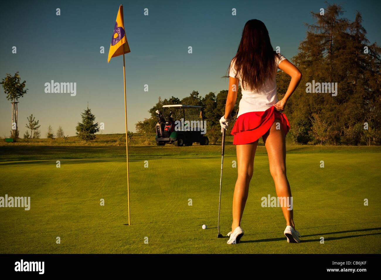 Sexy golf girl
