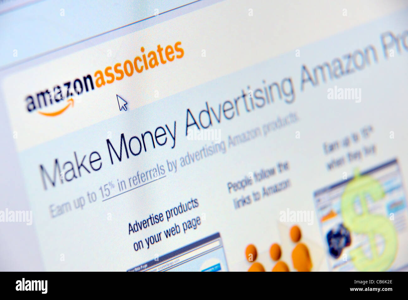 amazon advertise - Stock Image