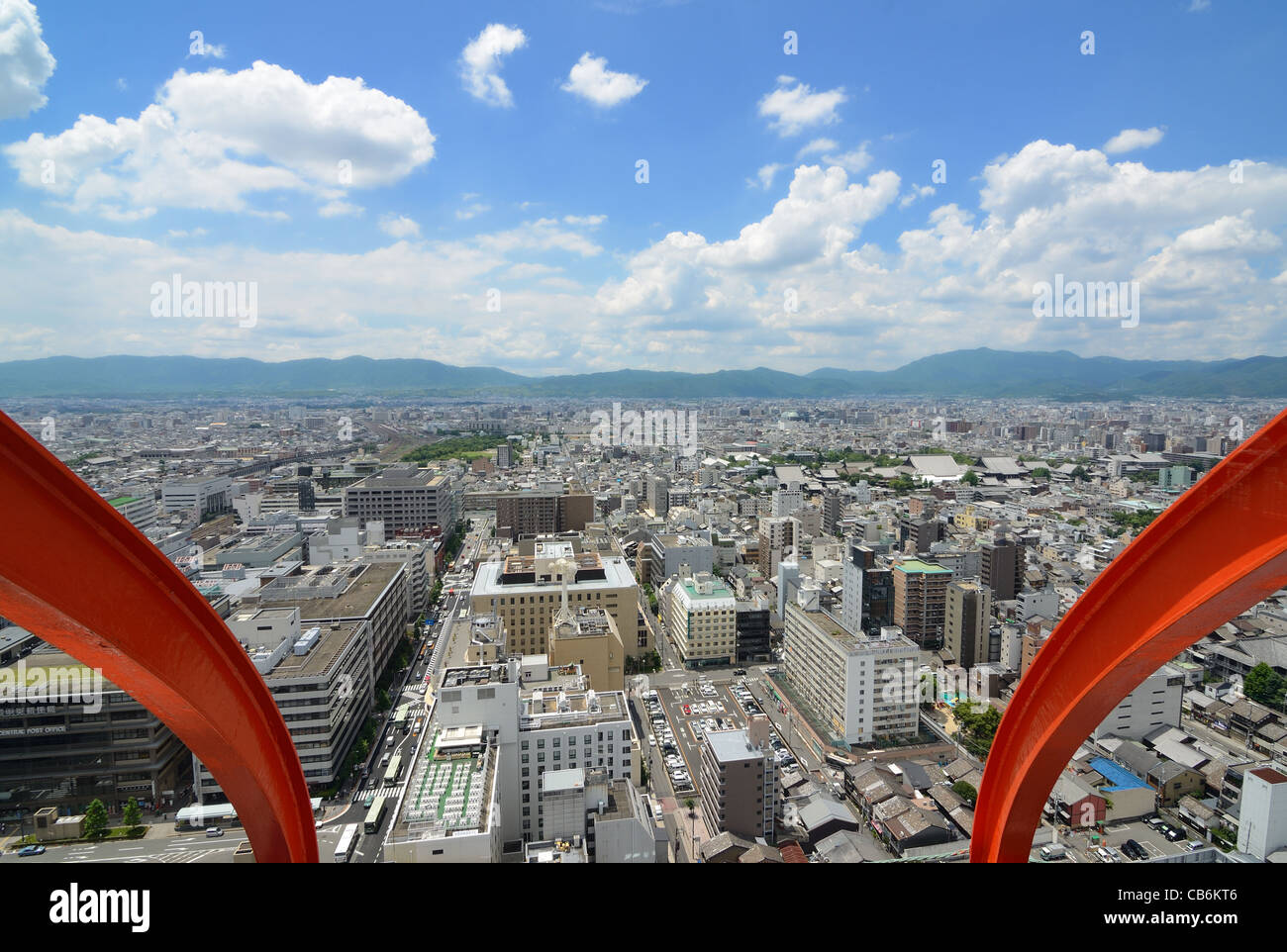 Aerial view of Kyoto, Japan. Stock Photo