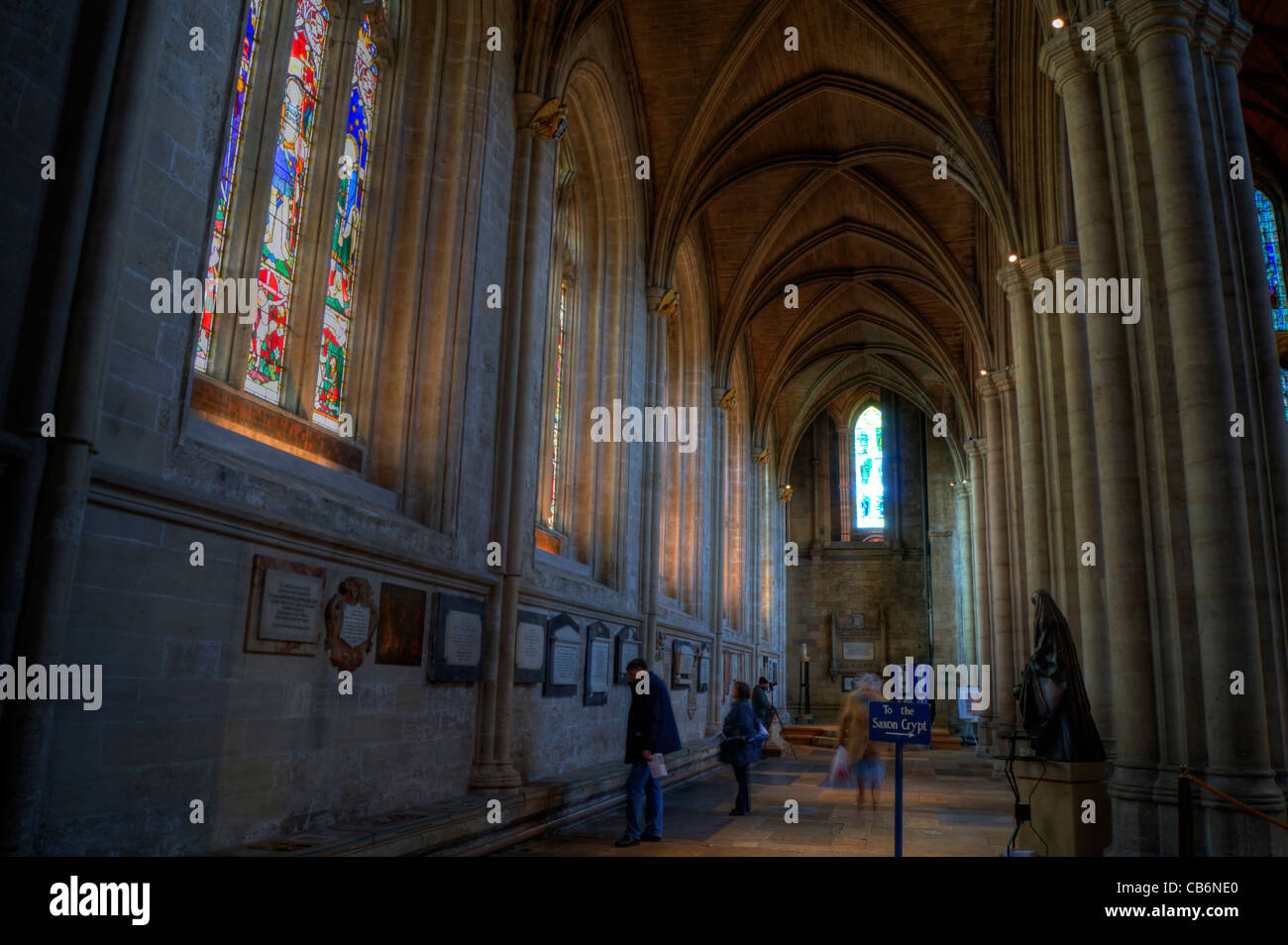 Ripon Cathedral interior - Stock Image