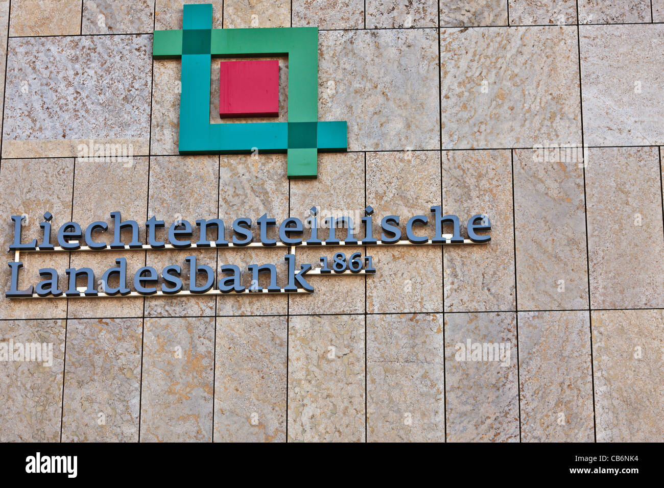 Headquarters of the Liechtensteinische Landesbank in Vaduz, Principality of Liechtenstein, Europe - Stock Image