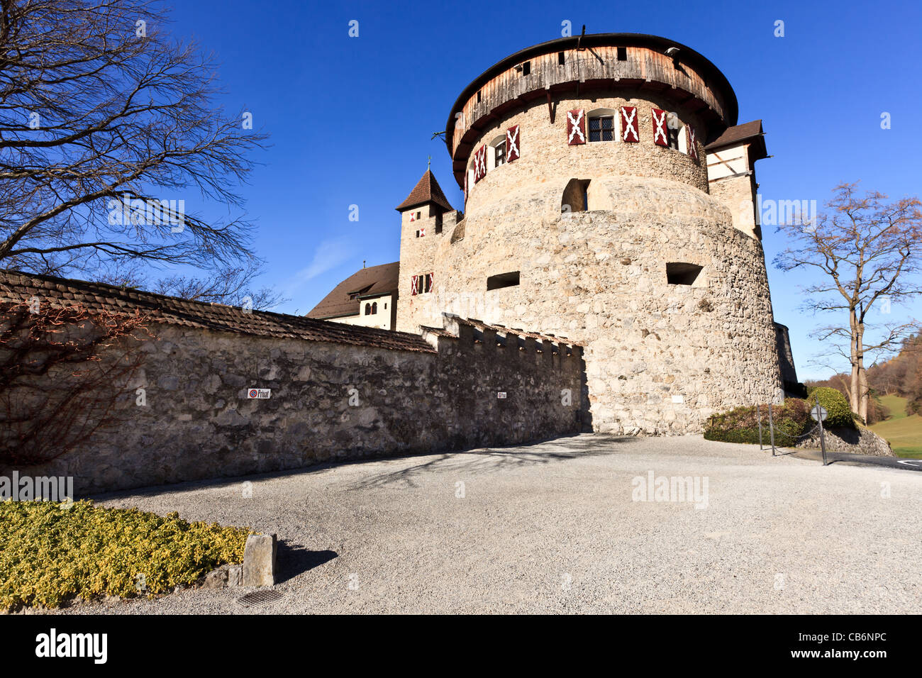 Vaduz Castle, Rhine Valley, Lichtenstein Stock Photo