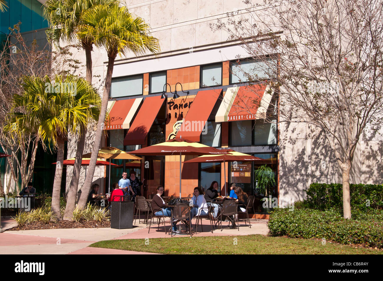 Orlando Florida,  Mall at Millenia outdoor dining upscale shopping mall - Stock Image