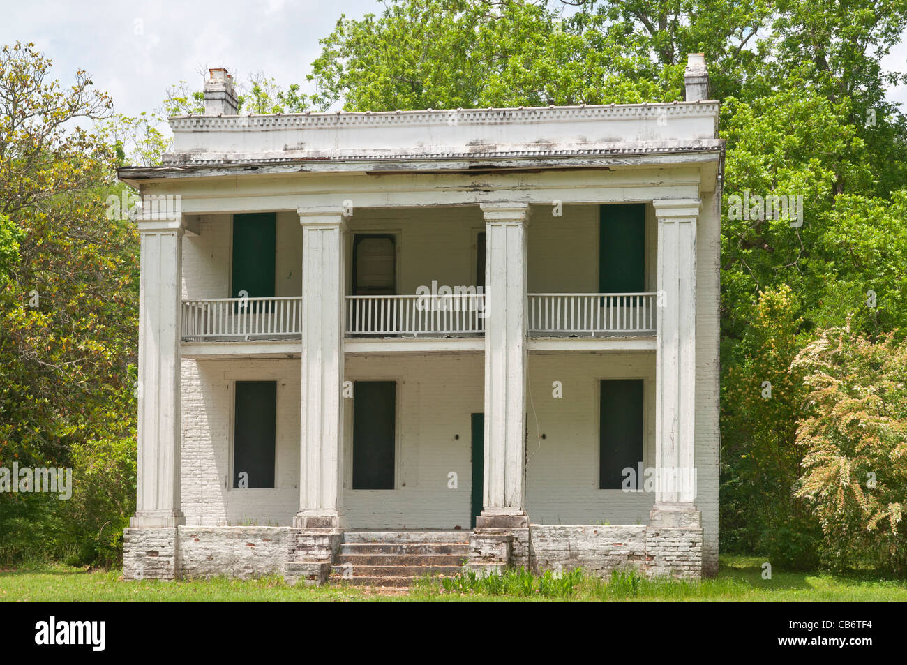 Alabama, Old Cahawba, state capital 1820-1826, became a ghost town shortly after the Civil War, structure from Kirk - Stock Image