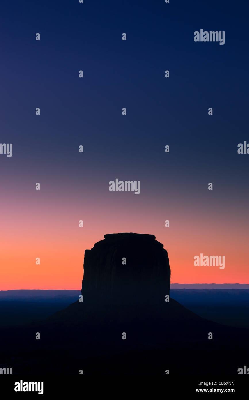 Sunrise Monument Valley Stock Photo