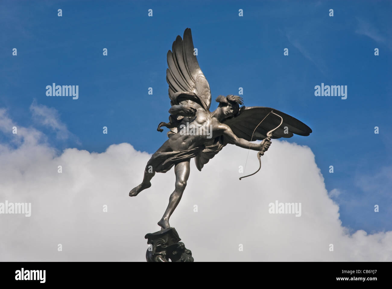 Eros statue. Picadilly Circus, London, England, UK. - Stock Image