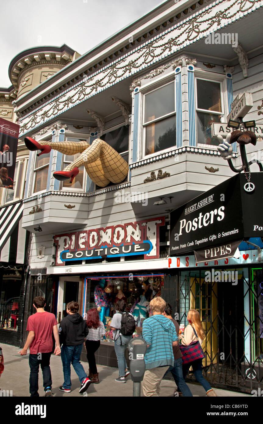 Piemont Boutique San Francisco Haight Street Ashbury California USA United States - Stock Image