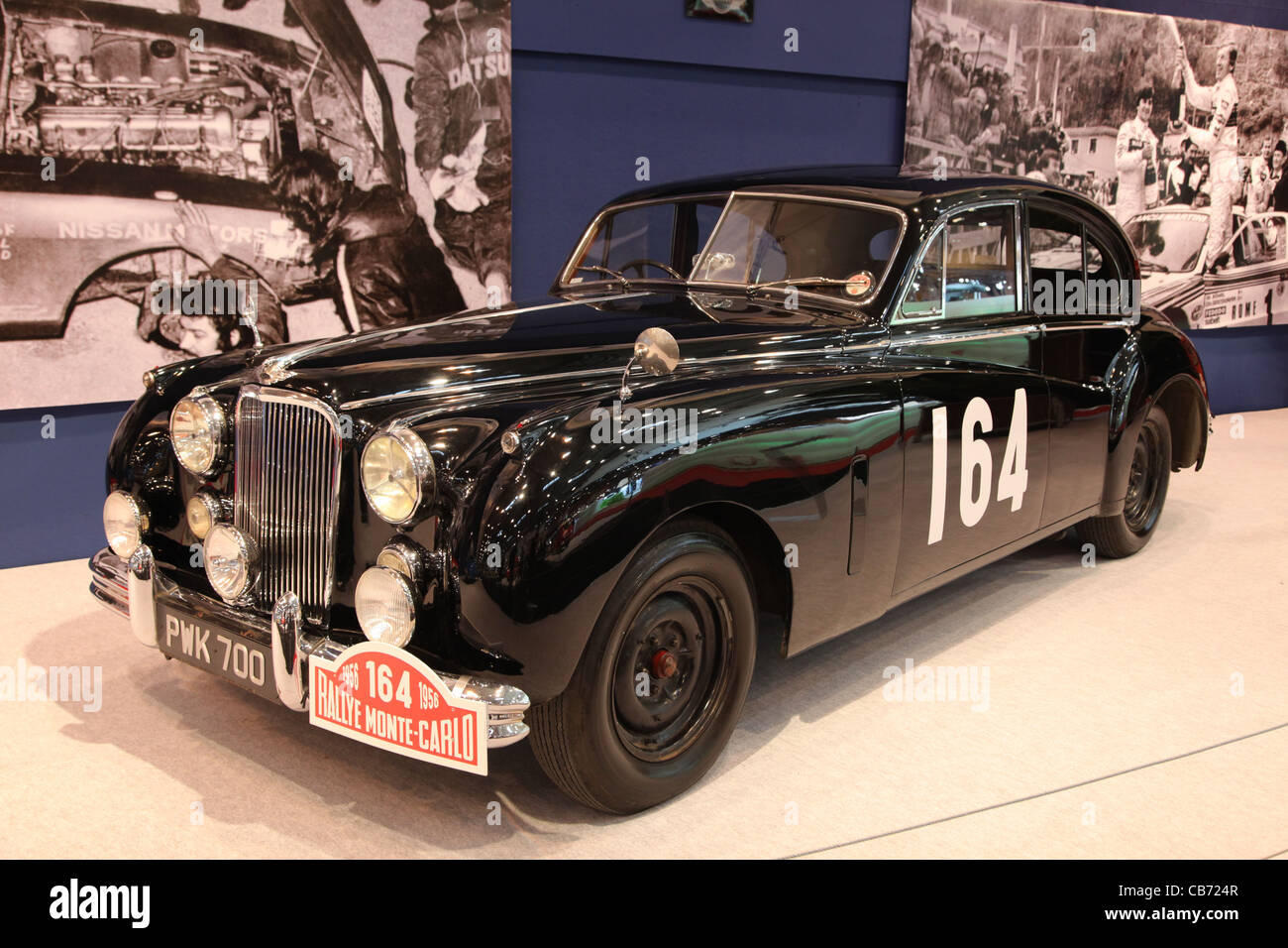 Jaguar Mk VII - Winner Car of the Rally Monte Carlo 1956, shown at the Essen Motor Show in Essen, Germany, on November - Stock Image