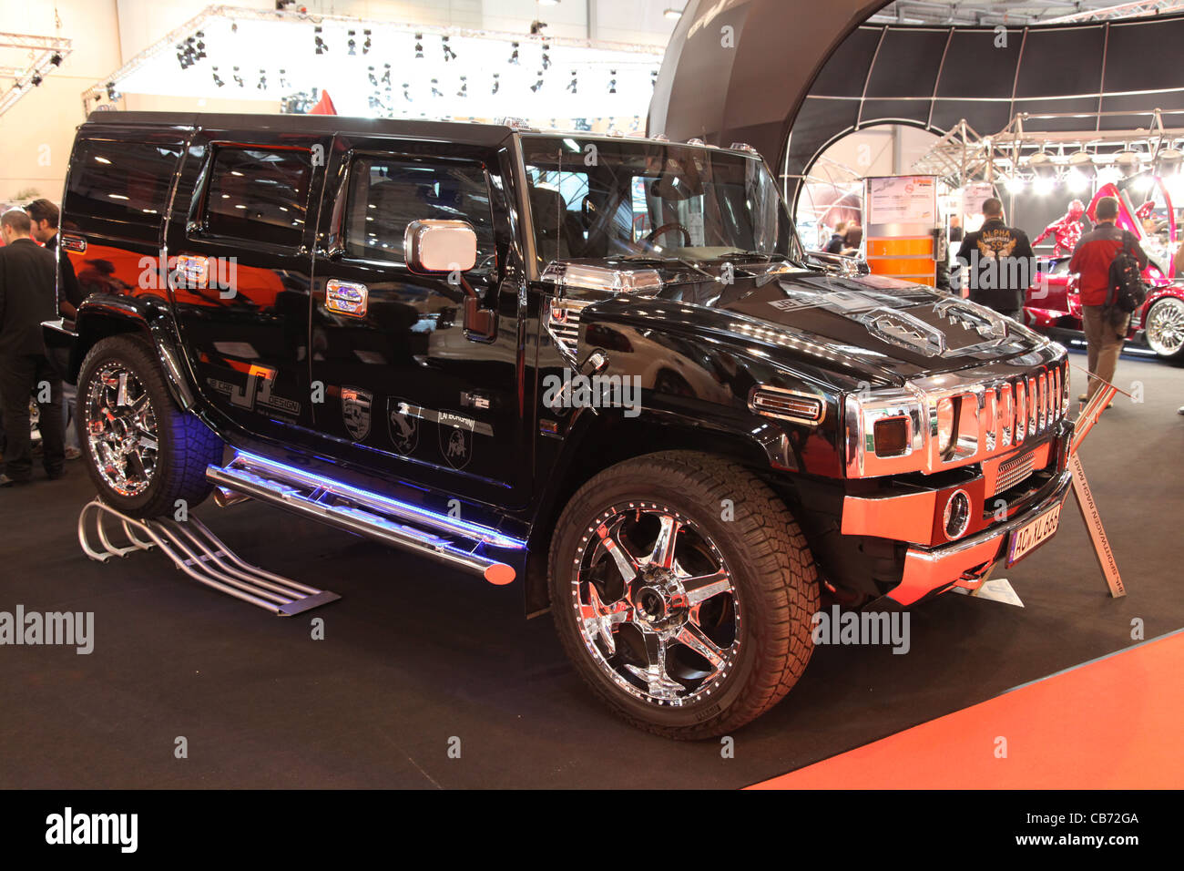 Hummer H2 Custom shown at the Essen Motor Show in Essen, Germany, on November 29, 2011 - Stock Image