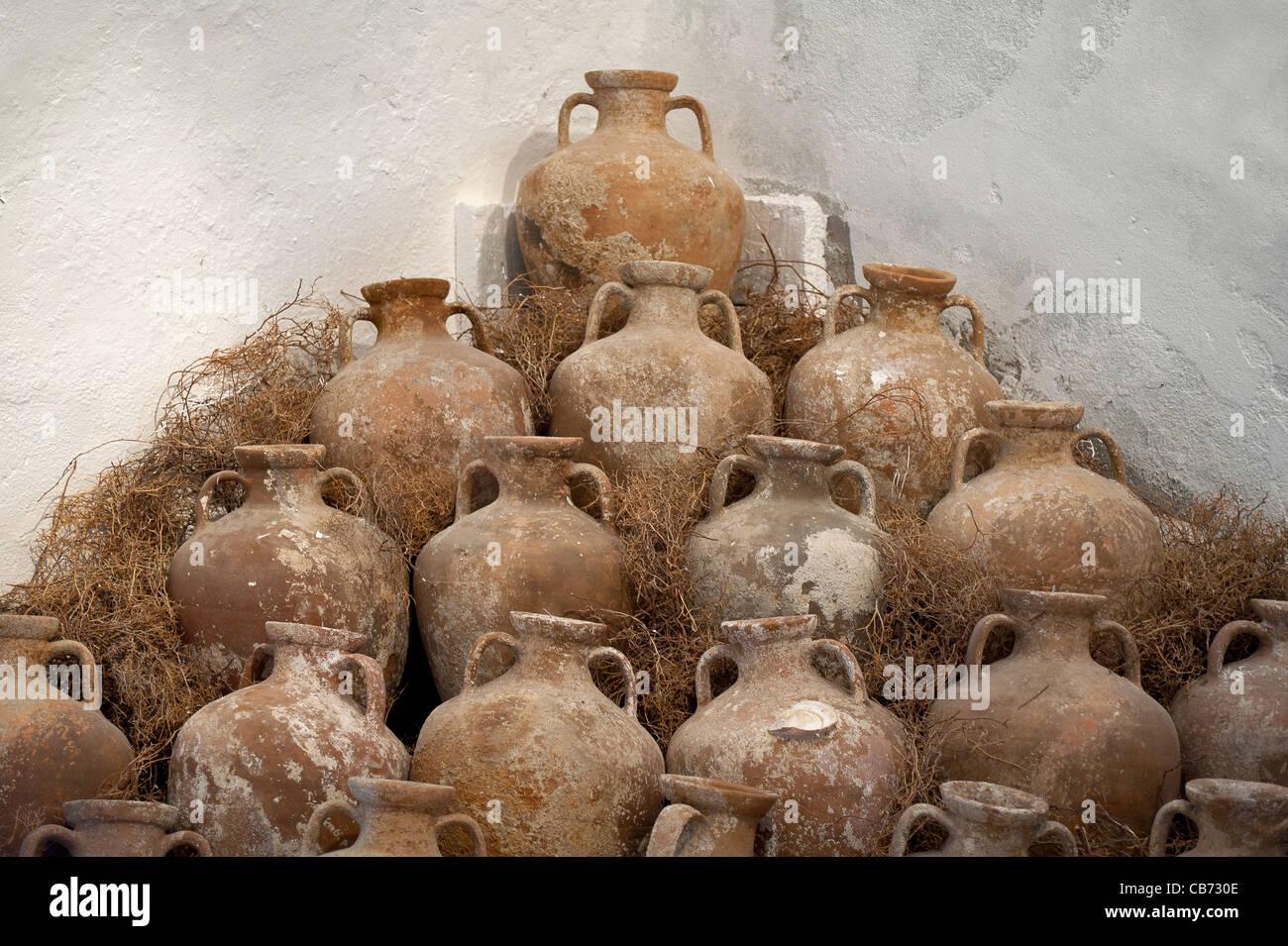 Amphora in Bodrum Underwater Archeology Museum Turkey - Stock Image
