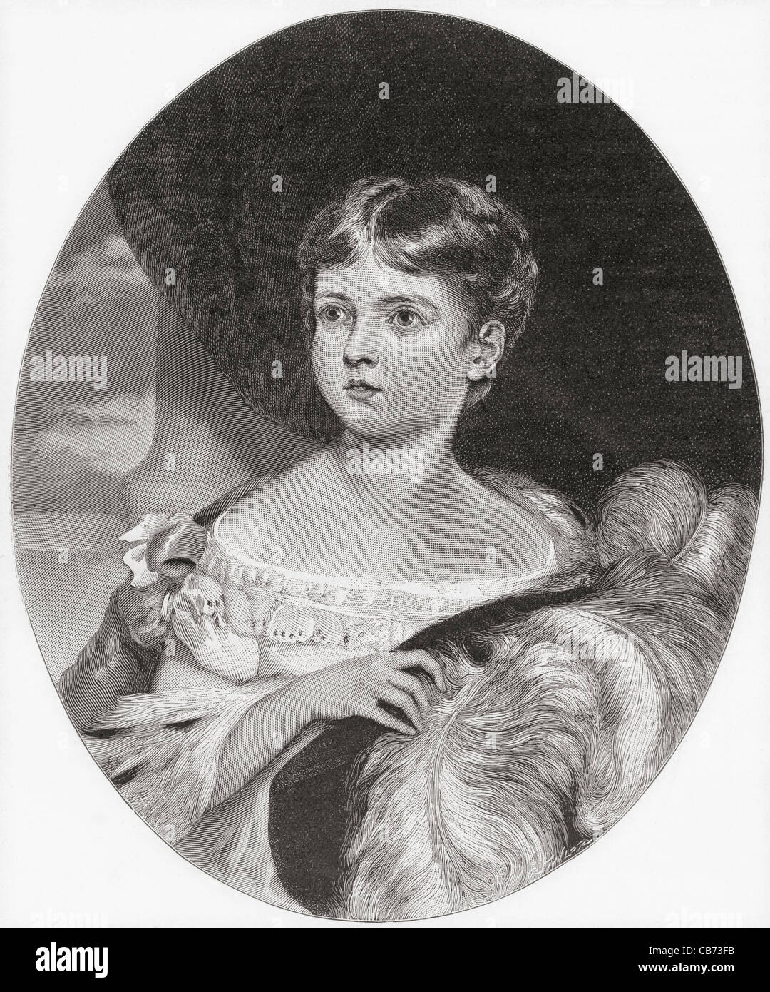 Queen Victoria, aged 11, 1819 – 1901. Queen of the United Kingdom and Ireland and Empress of India. - Stock Image