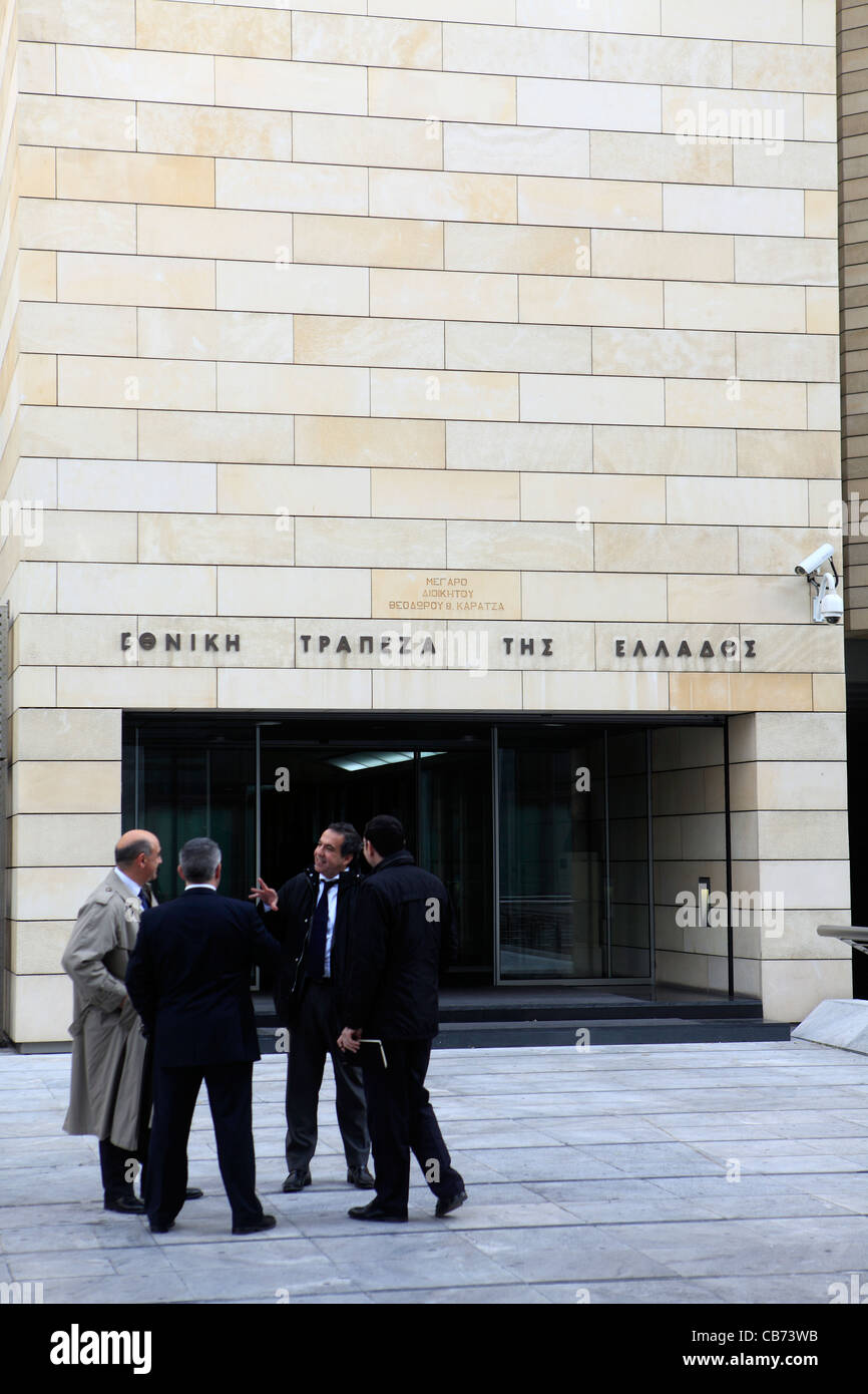 greece athens the national bank of greece - Stock Image