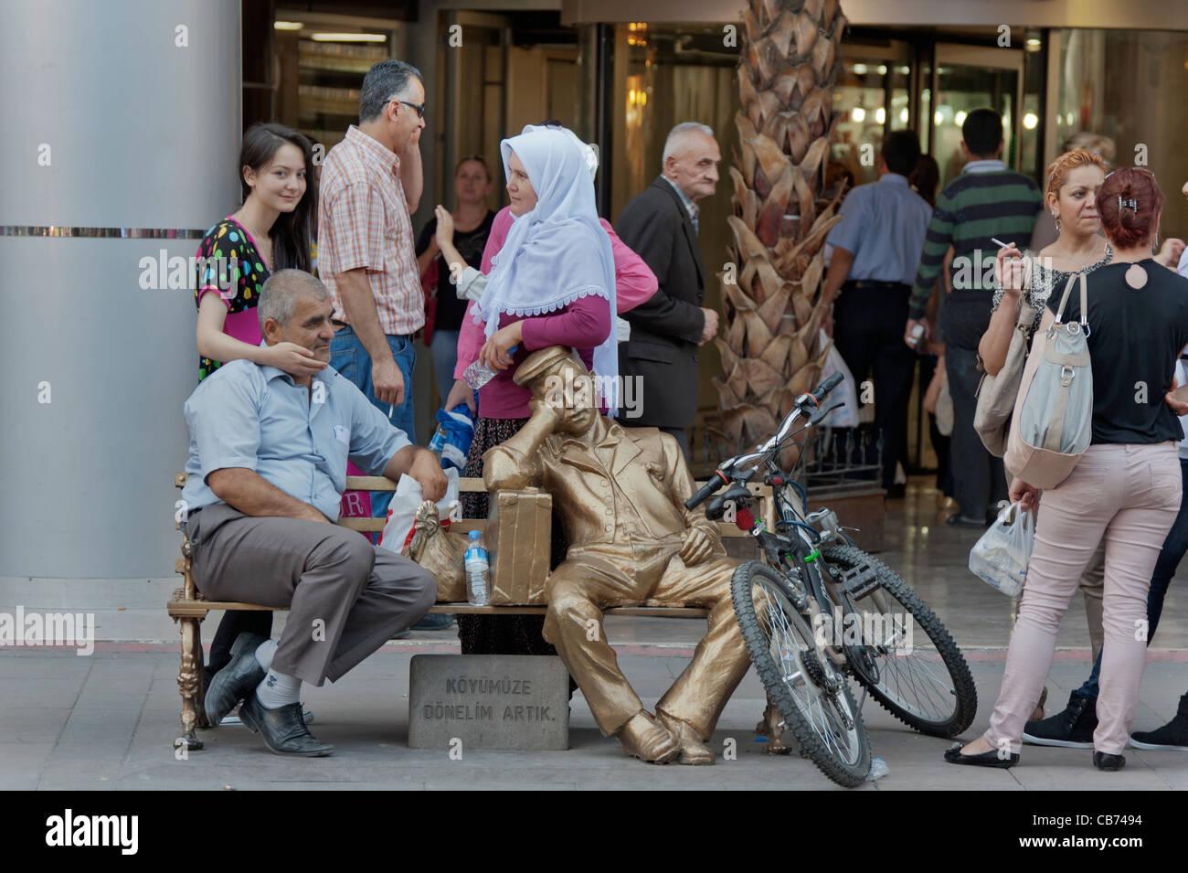 People in Eskişehir Bazaar Turkey - Stock Image