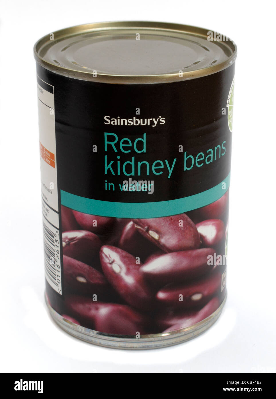 Tin of Sainsbury's own brand red kidney beans in water tinned food Stock Photo