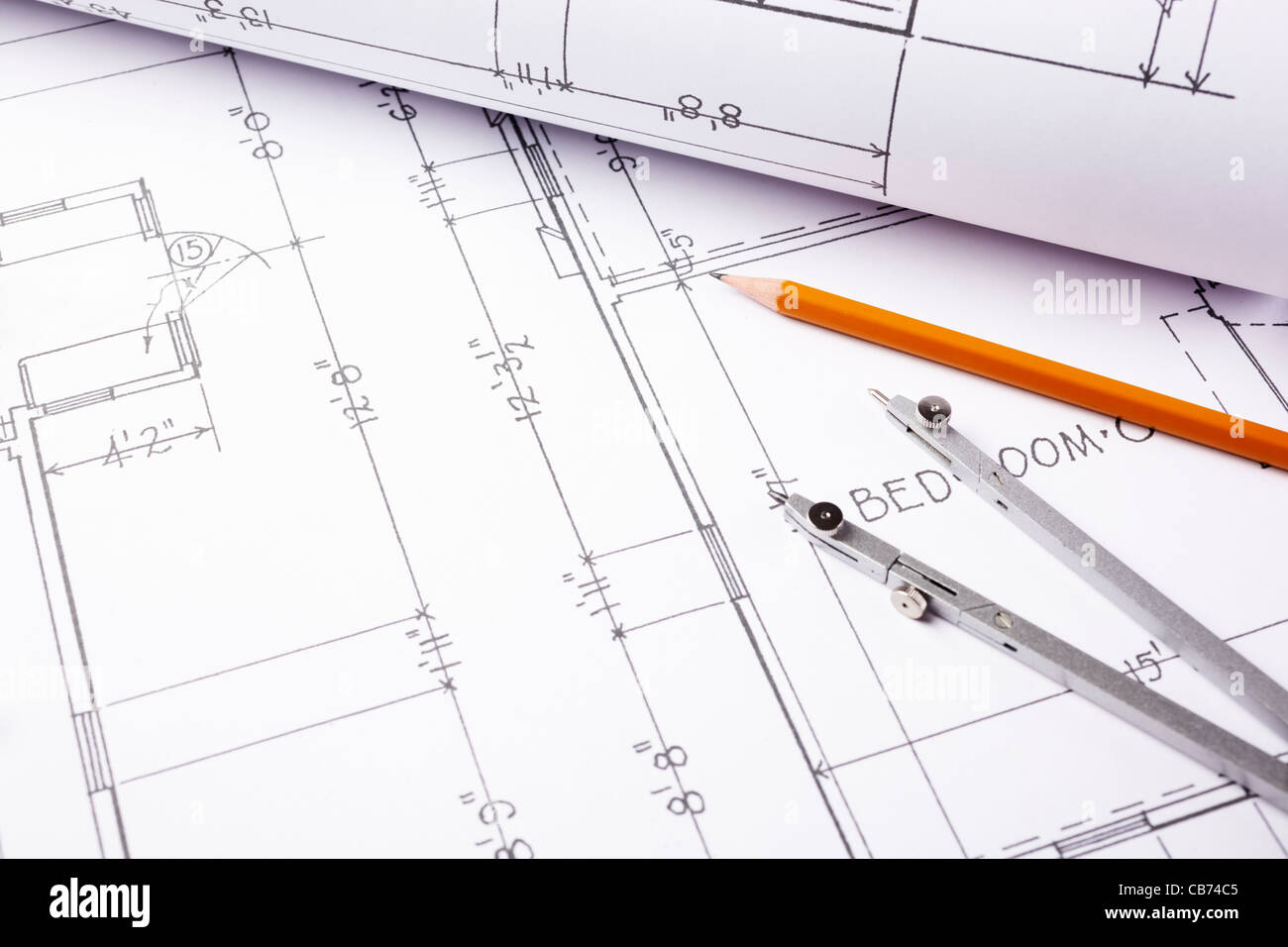Backgrounds paperwork blueprint pencil stock photos backgrounds blueprints stock image malvernweather Image collections