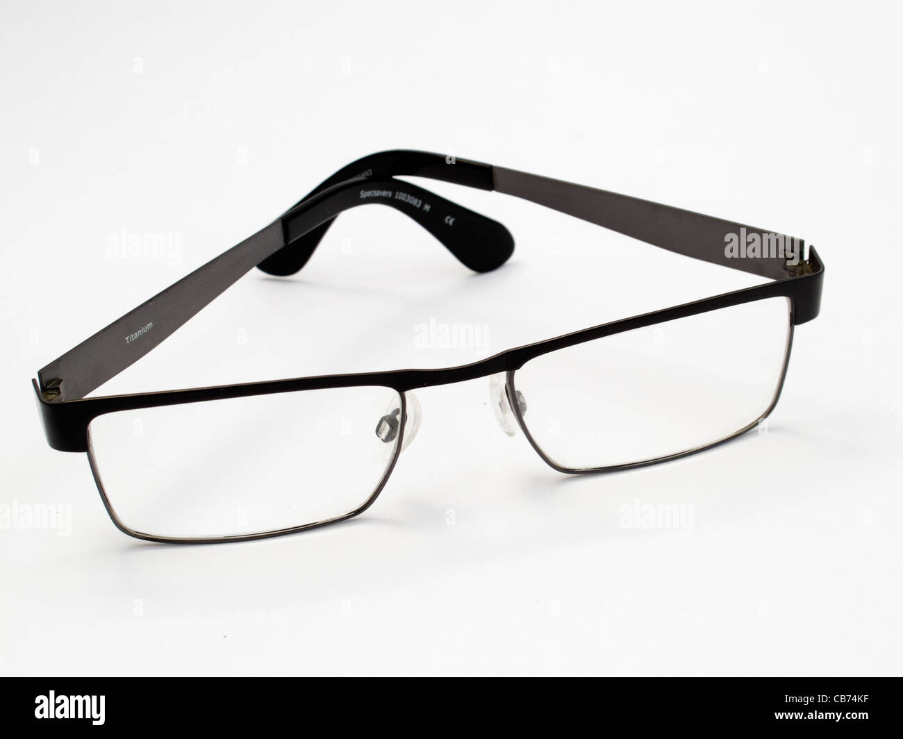 6c0dda5b28c4 Man s vocational varifocal spectacles modern design black titanium frame on  a white background