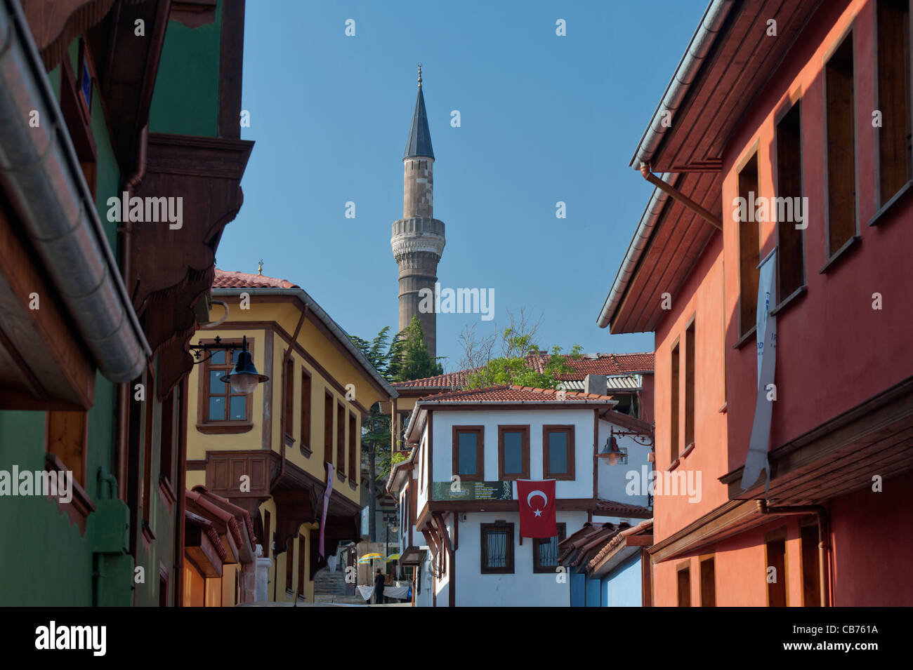 Odunpazarı traditional Turkish houses Eskişehir Turkey - Stock Image