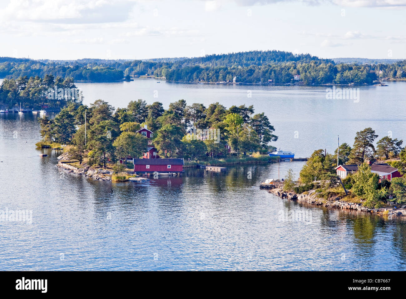 Stockholm Archipelago on the Baltic Sea in Sweden;Scandinavia,Europe - Stock Image