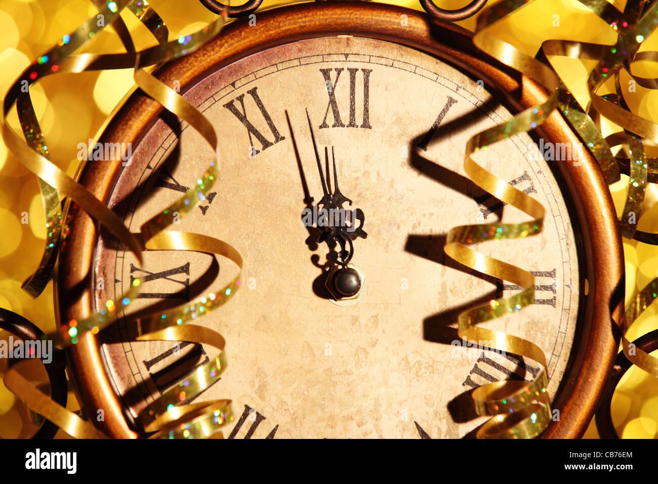 Nearly Twelve O'clock Midnight,New Year Concept. - Stock Image