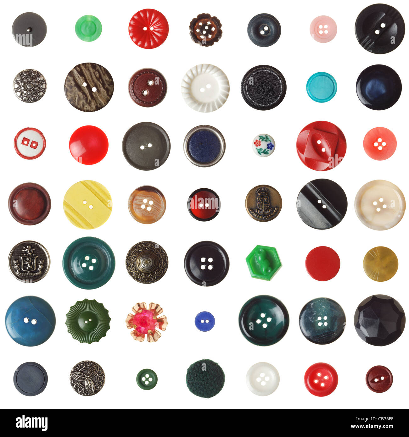 vintage/retro buttons on white. (2 of 2) - Stock Image