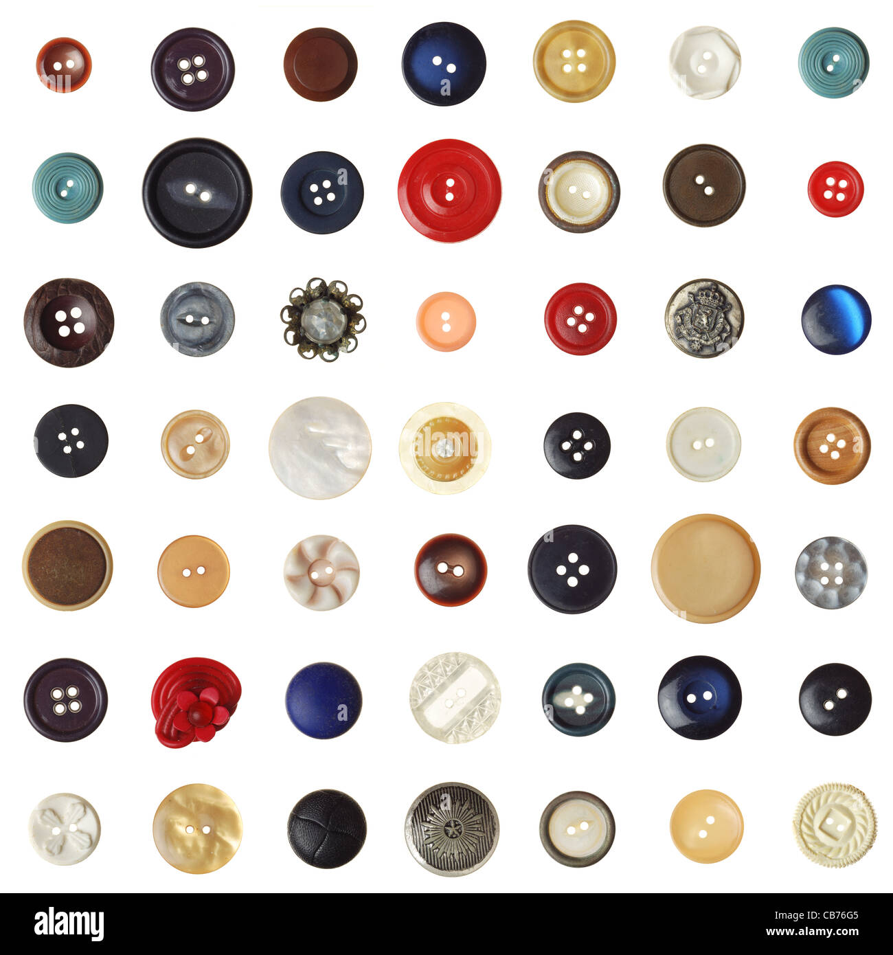 vintage/retro buttons on white. (1 of 2) - Stock Image