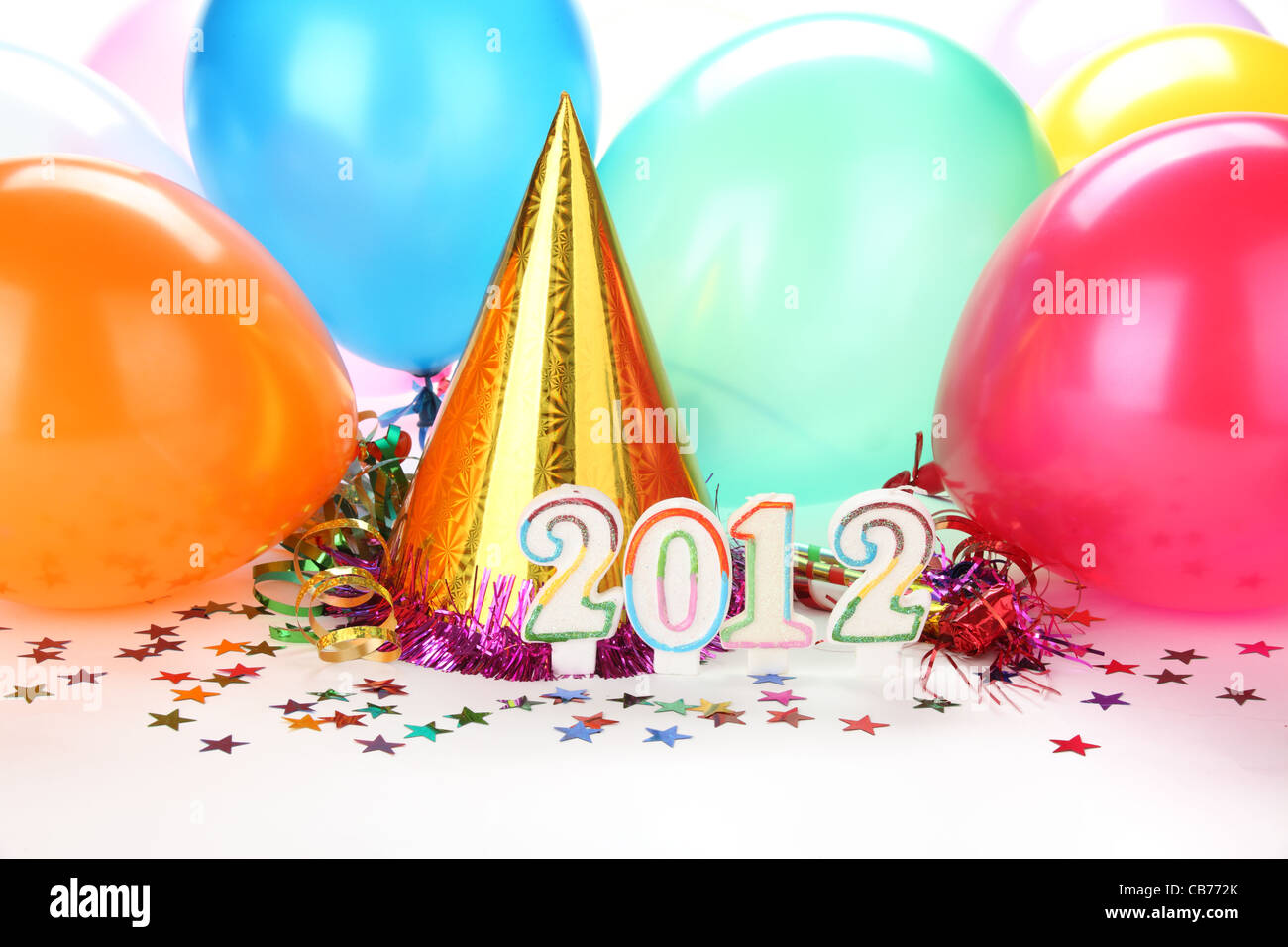 2012 New Year's Party Decoration - Stock Image