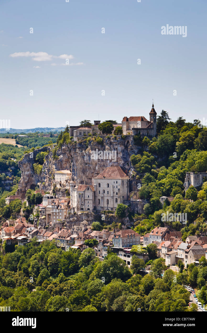 Rocamadour - famous French cliff top town in Lot Region, France, Europe Stock Photo
