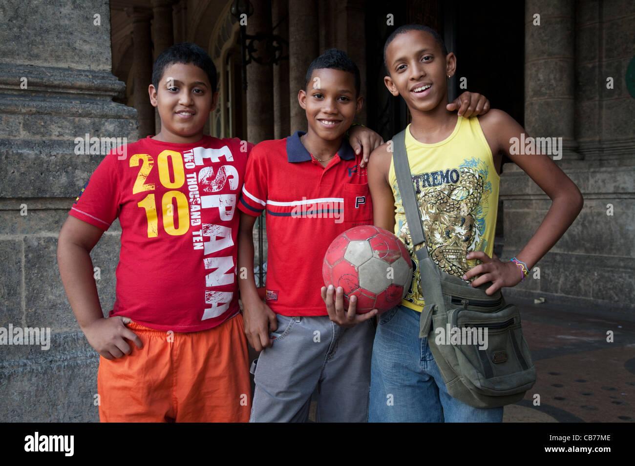Three good friends, Havana (La Habana), Cuba - Stock Image