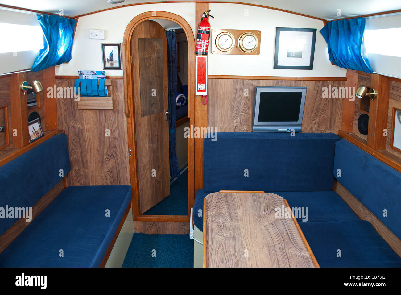 The Interior Of A Small Sailing Yacht Stock Photo 41342394 Alamy