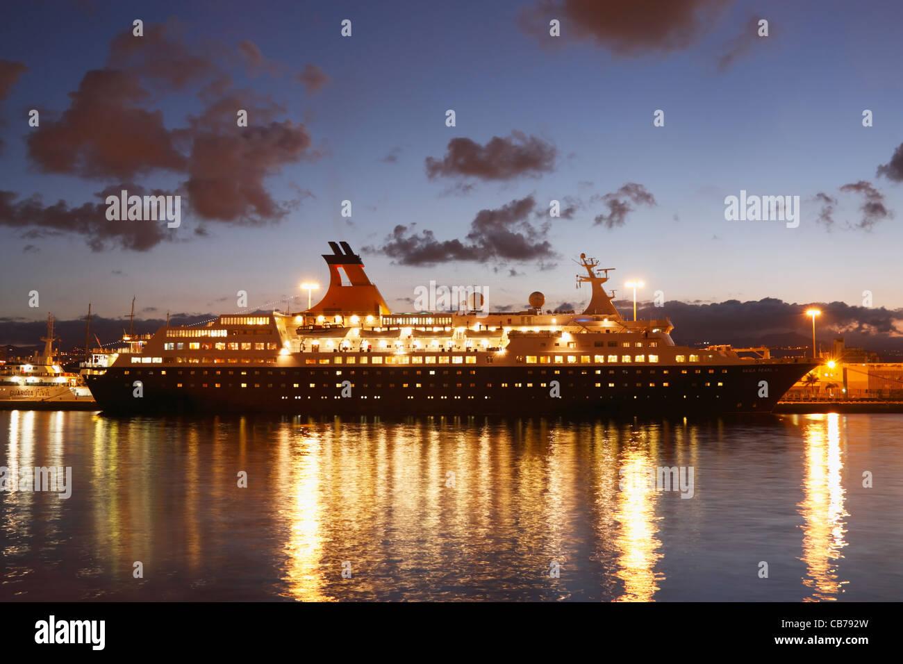 Saga Pearl 11 cruise ship in Las Palmas, Gran Canaria, Canary Islands, Spain - Stock Image