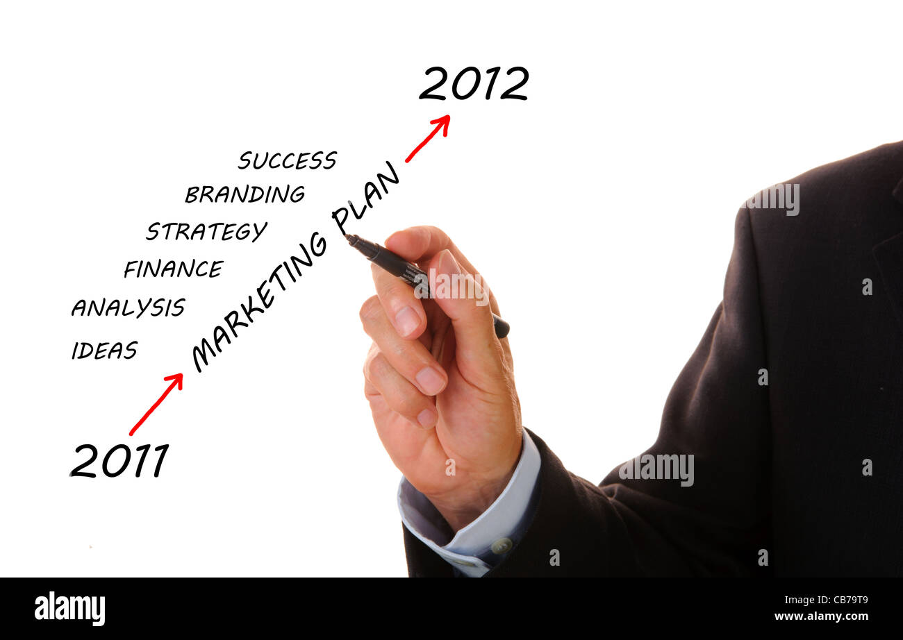 business plan from 2011 to 2012 - Stock Image
