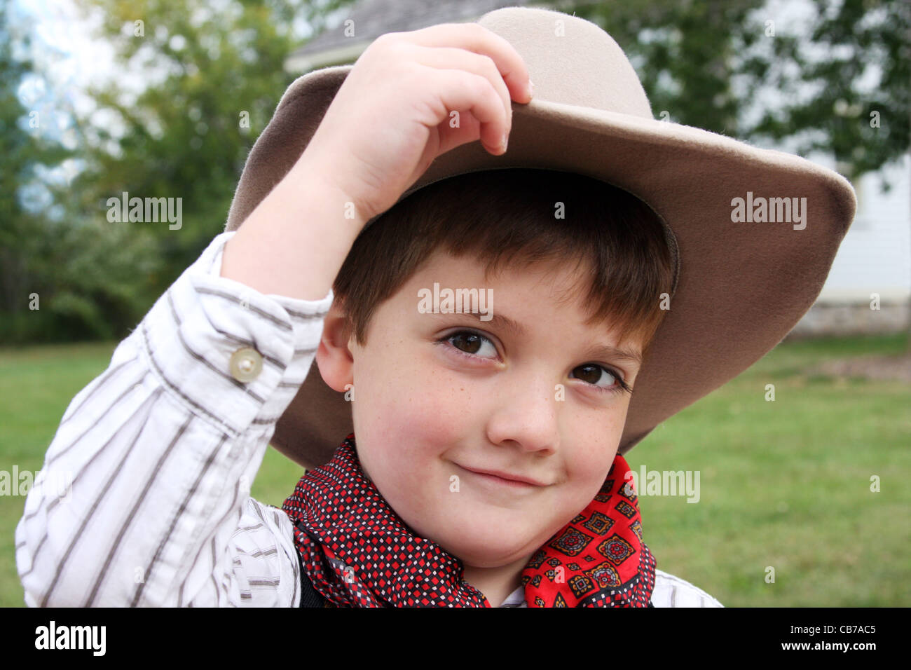 A cowboy tipping his hat howdy Stock Photo  41343797 - Alamy 13a7810df0e8